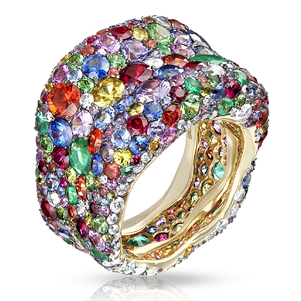 Faberge Emotion Multi Coloured Ring