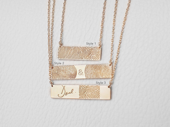 Fingerprint Necklace Memorial Jewelry