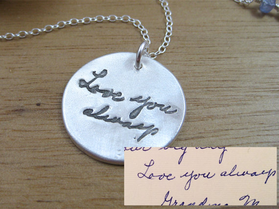 Handwriting Necklace Memorial Jewelry