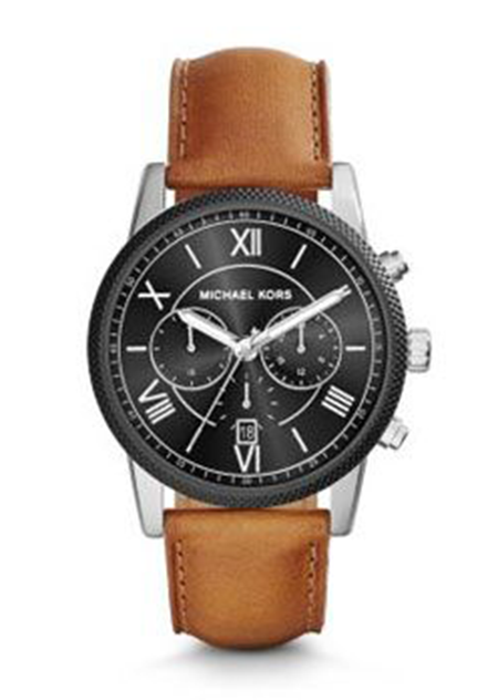 Hawthone Silver-Tone Leather Watch