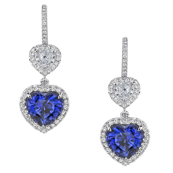 Omi Prive Sapphire Heart Earrings