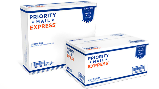 Priority Mail Express boxes