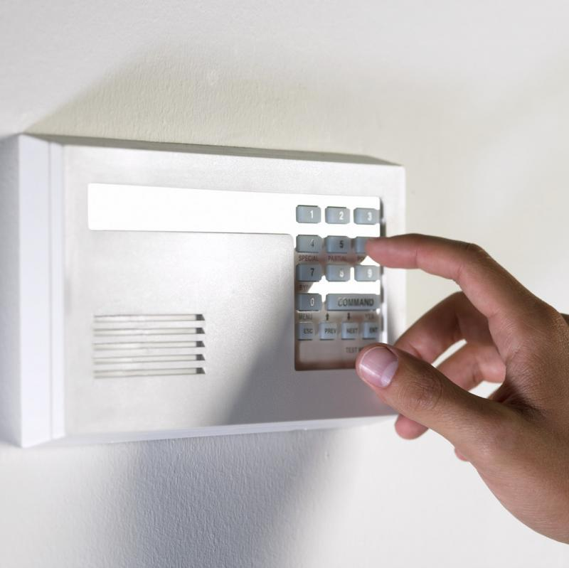 setting a security alarm