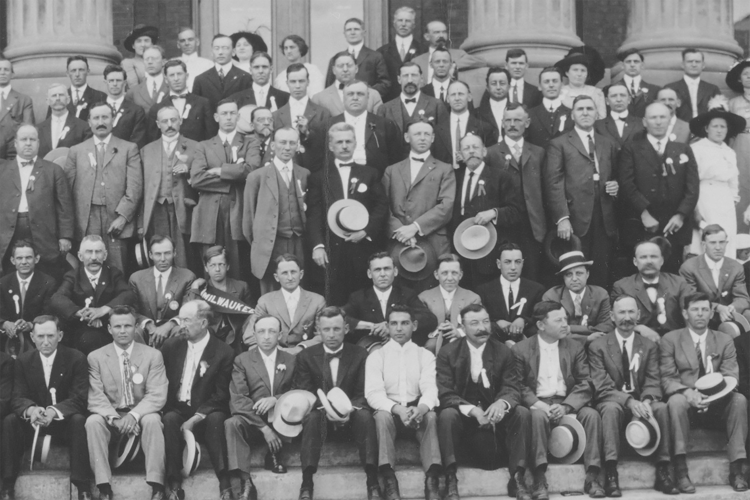 vintage photo of men in suits
