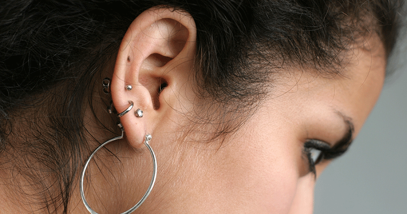 How to clean new ear piercing
