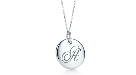 Tiffany Notes Alphabet Disc Charm Pendant