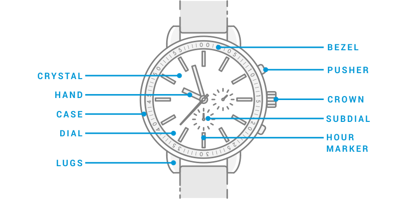 Parts of a Watch Diagram